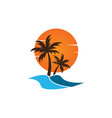 summer logo icon template vector image vector image