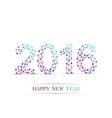 Text design Happy new year 2016 Molecule and vector image vector image