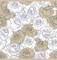 the rose flowers seamless pattern vector image vector image