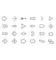 thin line arrows icon set vector image