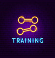 training neon label vector image