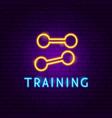 training neon label vector image vector image
