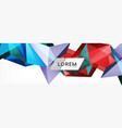 triangle 3d polygonal art style future geometric vector image