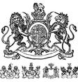 Victorian lion crest vector image vector image