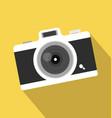 vintage camera long shadow icon vector image vector image