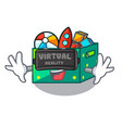 virtual reality kids toys in the cartoon box vector image