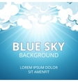 Blue sky and clouds background vector image