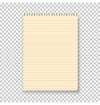 Photorealistic Yellow Notepad Isolated on vector image