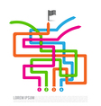 Abstract Four color path competition solution way vector image