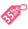 35 percent off tag vector image vector image