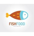 Abstract fish logo template for branding vector image vector image