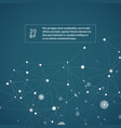 abstract scientific connect background vector image