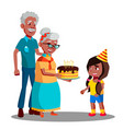 afro american old man woman celebrating child vector image vector image