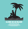 Alone on an Island Black Symbol vector image vector image