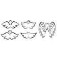 angel wings drawing winged angelic vector image vector image