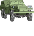 armored troop carrier vector image