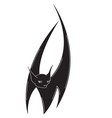 bat isolated vector image