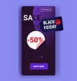 big sale black friday banner special offer promo vector image vector image