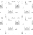 Black and white Istanbul tourist print seamless vector image vector image