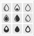 black drop icons vector image vector image