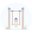 boy on the swing vector image