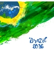 Brazilian watercolor flag vector image