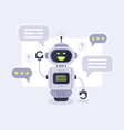 chat bot messages smart chatbot assistant vector image vector image