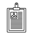 clipboard learning physics icon outline style vector image