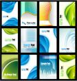 collection of business cards vector image vector image