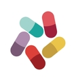 Colored pills and granules medical vector image