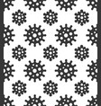 coronavirus seamless pattern on white background vector image vector image