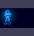 digital mobile telecommunication tower network vector image vector image