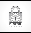 Digital Security Concept vector image vector image