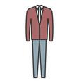 elegant office suit icon vector image