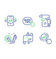 engineering journey path and manual doc icons set vector image vector image