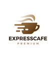 express cafe coffee quick delivery logo icon vector image