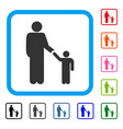 father with son framed icon vector image
