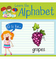 Flashcard letter G is for grapes vector image