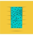 Flat color icon for climbing wall vector image