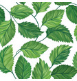 floral green leaf seamless pattern leaves vector image vector image