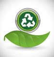 Go green design vector image vector image