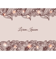 Graphic background with doodle ornament vector image