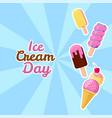 happy ice cream day suitable vector image vector image