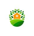 home farm logo icon design vector image