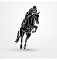 Horse race Equestrian sport Silhouette of racing vector image vector image