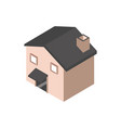 house architecture urban building isometric style vector image