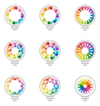 idea rainbow light colorful symbol design vector image vector image