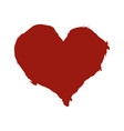 ink brush drawn red heart vector image vector image