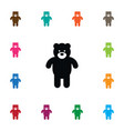 isolated bear icon plush element can be vector image vector image