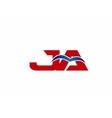 JA Logo Graphic Branding Letter Element vector image vector image